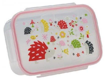 Kvalitní dětská svačinová krabička s třemi oddělenými částmi a bez BPA Sugarbooger Good Lunchbox Hedgehog