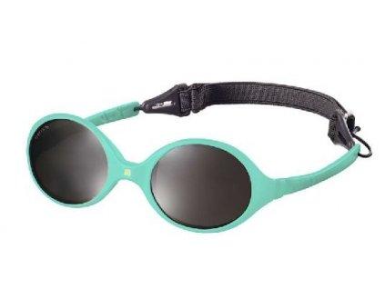 Kvalitní dětské sluneční brýle pro batolata s ochranou před UVA i UVB zářením KiETLA Diabola 0-18 m v mentolové barvě