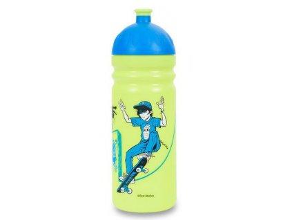 Kvalitní plastová dětská láhev bez BPA RB Mědílek Zdravá láhev Teens 0,7 l v zeleno-modré barvě