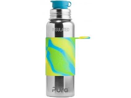 Pura Termo láhev se sportovním uzávěrem 650 ml zelená - aqua