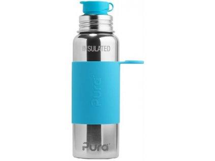 Pura Termo láhev se sportovním uzávěrem 650 ml aqua
