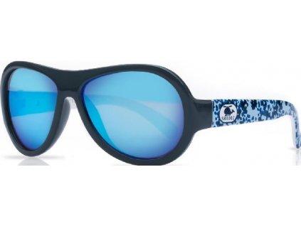 Kvalitní dětské sluneční brýle s ochranou před UVA i UVB zářením a bez BPA Shadez Designers - Helicopter Camo Blue v modré barvě