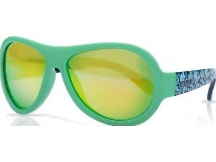 Kvalitní dětské sluneční brýle s ochranou před UVA i UVB zářením a bez BPA Shadez Designers - Leaf Print Green v zelené barvě