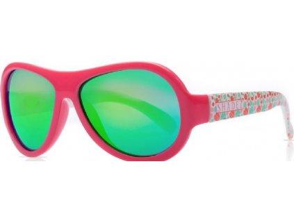 Kvalitní dětské sluneční brýle s ochranou před UVA i UVB zářením a bez BPA Shadez Designers - Leaf Print Pink v růžové barvě