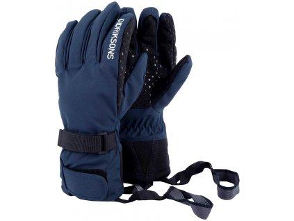 Kvalitní dětské zimní nepromokavé rukavice prstové Didriksons 1913 FIVE JR v modré barvě