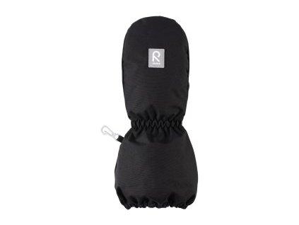 Kvalitní dětské zimní nepromokavé rukavice palčáky Reima Nouto black /2018/ v černé barvě