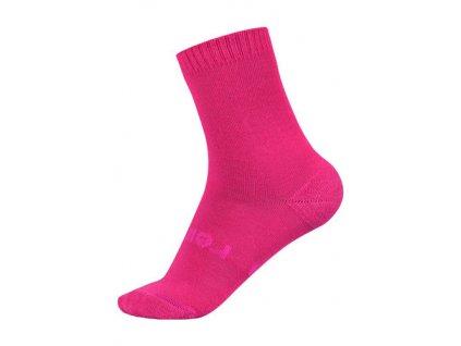 Kvalitní dětské vlněné zimní ponožky Reima Warm Woolmix v růžové barvě