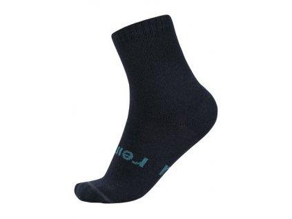 Kvalitní dětské vlněné zimní ponožky Reima Warm Woolmix v tmavě modré barvě
