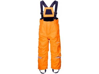 Kvalitní dětské zimní lyžařské kalhoty Didriksons 1913 Idre v oranžové barvě