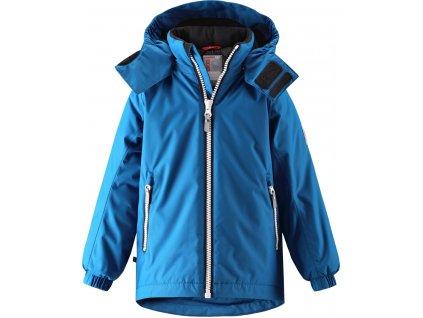 Kvalitní dětská zimní membránová bunda s odnímatelnou kapucí a reflexními prvky Reima Reili blue v modré barvě