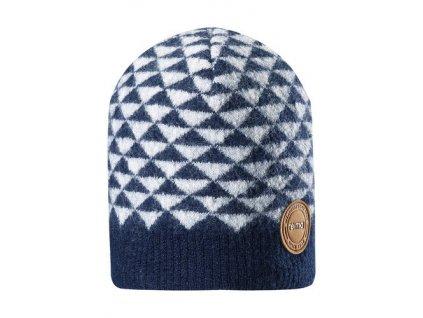 Kvalitní dětská bavlněná zimní čepice Maximo Kaamos v modré barvě