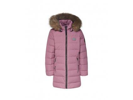 Kvalitní dětská zimní zateplená bunda s odnímatelnou kapucí a reflexními prvky LEGO® Wear Jamila 709 v růžové barvě