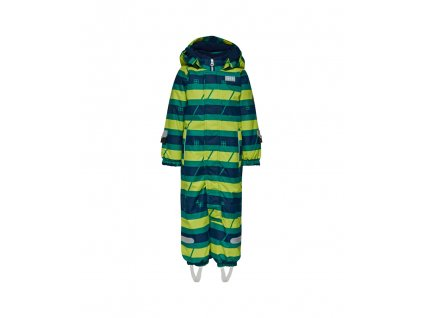Kvalitní dětská zimní kombinéza s odnímatelnou kapucí a reflexními prvky LEGO® Wear Tec Johan 778 v zeleno-modré barvě