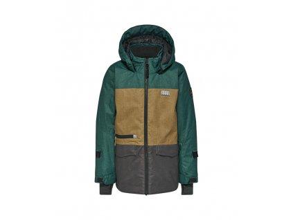 Kvalitní dětská zimní zateplená bunda s odnímatelnou kapucí a reflexními prvky LEGO® Wear Tec Jakob 774 v zelené barvě