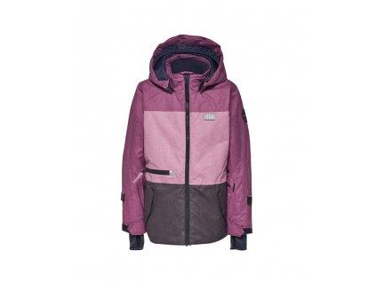 Kvalitní dětská zimní zateplená bunda s odnímatelnou kapucí a reflexními prvky LEGO® Wear Tec Jamila 774 ve fialové barvě