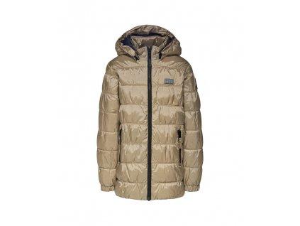 Kvalitní dětská zimní zateplená bunda s odnímatelnou kapucí a reflexními prvky LEGO® Wear Jamila 703 ve zlaté barvě