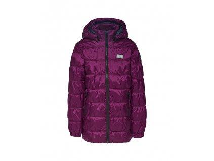 Kvalitní dětská zimní zateplená bunda s odnímatelnou kapucí a reflexními prvky LEGO® Wear Jamila 703 ve fialové barvě