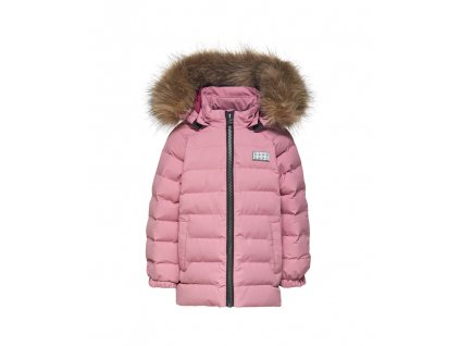 Kvalitní dětská zimní zateplená bunda s odnímatelnou kapucí a reflexními  prvky LEGO® Wear Josie 793 1229942e31