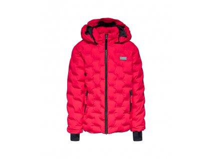 Kvalitní dětská zimní zateplená bunda s odnímatelnou kapucí a reflexními prvky EGO® Wear Jakob 708 v růžové barvě