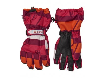 Kvalitní dětské zimní nepromokavé rukavice prstové LEGO® Wear Tec Aiden 704  v červené barvě f3fe6d1e81