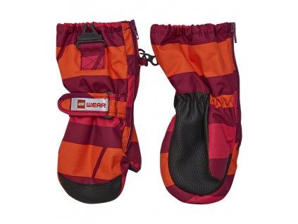 Kvalitní dětské zimní nepromokavé rukavice palčáky LEGO® Wear Tec Andrew 70 v červené barvě