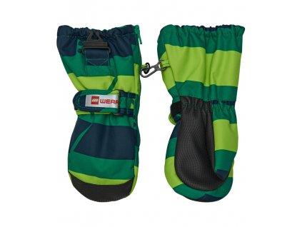 Kvalitní dětské zimní nepromokavé rukavice palčáky LEGO® Wear Tec Andrew 70 v zelené barvě