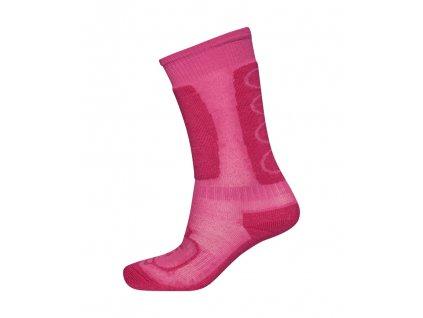 Kvalitní dětské vlněné lyžařské ponožky LEGO® Wear Aiden 772 v růžové barvě
