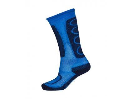 Kvalitní dětské vlněné lyžařské ponožky LEGO® Wear Aiden 772 v modré barvě