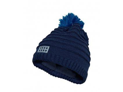 c59dc9362a6 Kvalitní dětská zimní čepice s bambulí LEGO® Wear Aiden 712 v tmavě modré  barvě