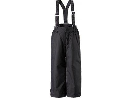 Kvalitní dětské zimní lyžařské kalhoty Reima Procyon black v černé barvě