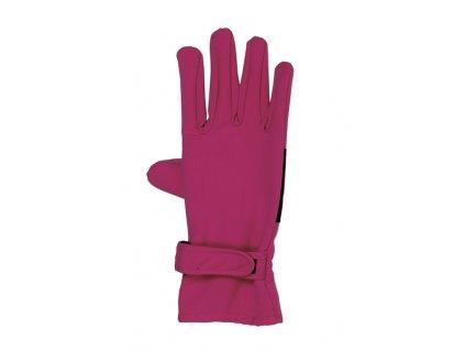Kvalitní dětské zimní nepromokavé softshellové rukavice prstové Maximo ve vínové barvě