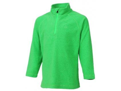 Kvalitní dětská hřejivá jarní fleecová mikina Color Kids Sandberg toucan  green v zelené barvě fbed44e92f