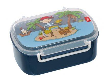 Kvalitní dětský plastový box na svačinu Sigikid Sammy Samoa - pirát v modré barvě