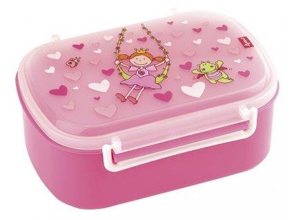 Kvalitní dětský plastový box na svačinu Sigikid Pinky Queeny - princezna v růžové barvě