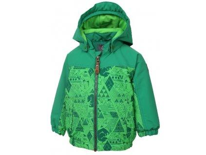 Kvalitní dětská zimní zateplená bunda s odnímatelnou kapucí a reflexními prvky Color Kids Dion toucan green v zelené barvě