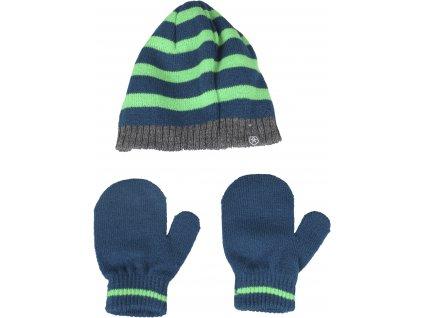 Kvalitní dětský set čepice a rukavic Color Kids Daru estate blue v modré barvě