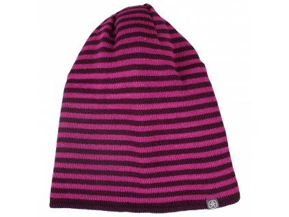 Kvalitní dětská zimní čepice Color Kids Sullivan berry ve vínové barvě