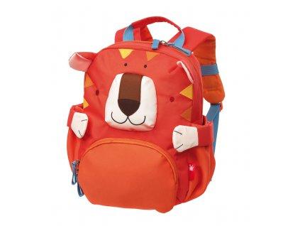 Kvalitní nylonový, komfortní a propracovaný dětský batoh pro předškoláky Mini batoh Sigikid Tygr v oranžové barvě