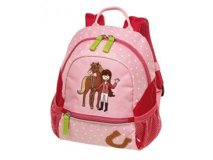 Kvalitní nylonový, komfortní a propracovaný batoh pro předškoláky s motivem malé jezdkyně Sigikid Brands Gina Galopp v růžové barvě