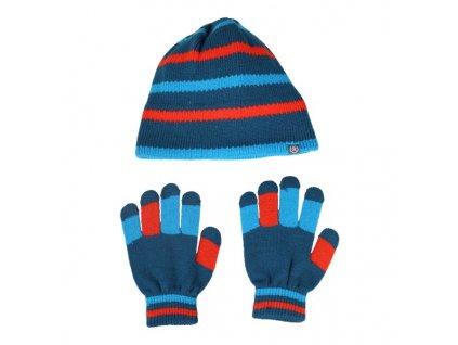 a0de5abded8 Kvalitní dětský set čepice a rukavic Color Kids Dahl moroccan blue v modré  barvě