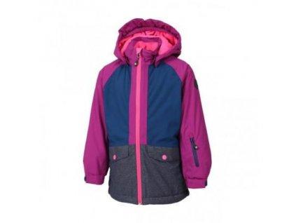 Kvalitní dětská zimní zateplená membránová lyžařská bunda s odnímatelnou  kapucí a reflexními prvky Color Kids Diana b0825b6a28