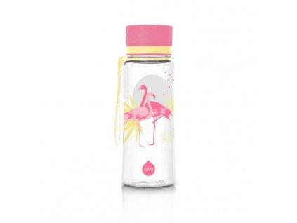 Kvalitní dětská plastová láhev vyrobena ze zdravotně nezávadného materiálu a bez BPA EQUA Flamingo 0,6 l