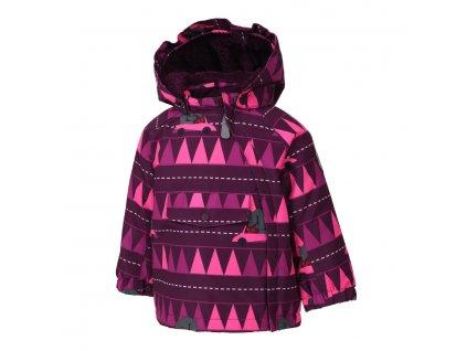 Kvalitní dětská zimní zateplená bunda s odnímatelnou kapucí a reflexními prvky Color Kids Raidoni pickled beet ve vínové barvě
