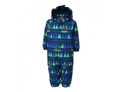 Kvalitní dětský zimní overal s odnímatelnou kapucí a reflexními prvky Color Kids Rimah estate blue v modré barvě