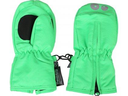 Kvalitní dětské zimní batolecí rukavice Color Kids Kompin toucan green v zelené barvě
