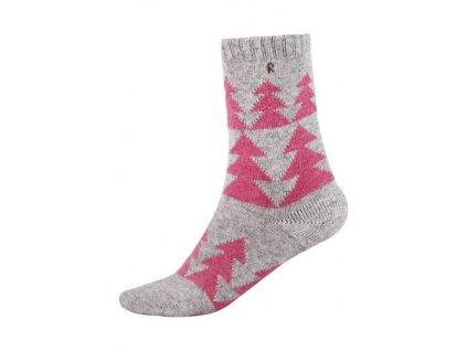Kvalitní dětské vlněné zimní ponožky Reima Snowflower v červené barvě 665a1d1e50e