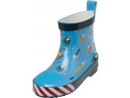 Kvalitní dětské nízké gumáky z přírodního kaučuku Playshoes Bagry ve světle modré barvě