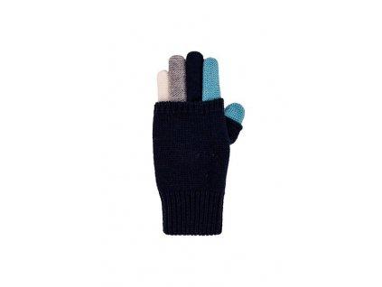 Kvalitní dětské zimní pletené rukavice Maximo v modro-šedé barvě