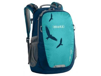 Kvalitní nylonový, komfortní a propracovaný turistický batoh pro děti Boll Falcon 20L turquoise v tyrkysové barvě