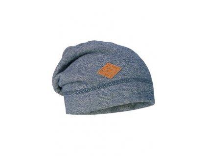 Kvalitní dětská bavlněná zimní čepice Maximo v modré barvě